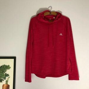 Adidas magenta Climalite thin pullover hoodie